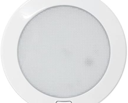 Dream Lighting 12Volt LED Panel Light with Switch – 5″ White Shell Ceiling Downlight – Warm White Panel Downlight for Kitchen, Roof, Cabinet and Cabin, with Memory Function