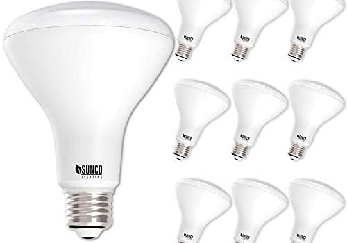 Sunco Lighting 10 Pack BR30 LED Bulb, 11W=65W, 6000K Daylight Deluxe, 850 LM, E26 Base, Dimmable, Indoor Flood Light for Cans – UL & Energy Star