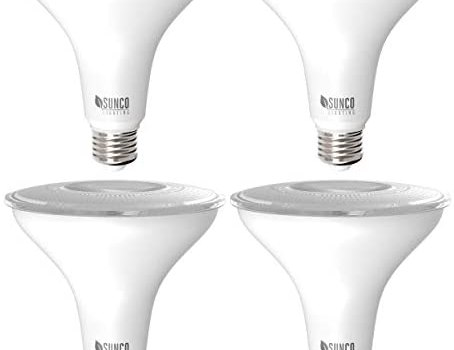 Sunco Lighting 4 Pack PAR38 LED Bulb 13W=100W, 2700K Soft White, 1050 LM, Dimmable, Indoor/Outdoor Spotlight, Waterproof – UL & Energy Star