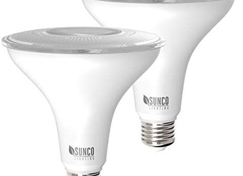 Sunco Lighting 2 Pack PAR38 LED Bulb 13W=100W, 4000K Cool White, 1050 LM, Dimmable, Indoor/Outdoor Spotlight, Waterproof – UL & Energy Star