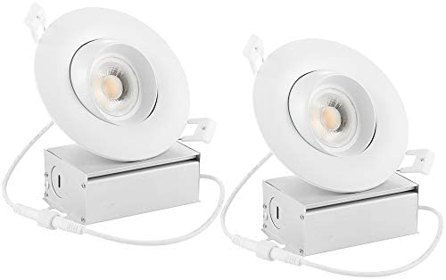 Drart 4 inches LED Gimbal Recessed Downlight Dimmable 12W Lighting Fixture Retrofit, 100W Equivalent 3000K with IC Rated Junction box