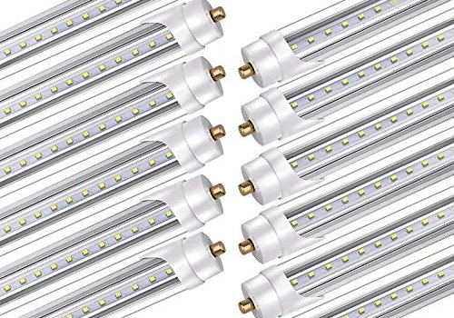 Bbounder 12 Pack led Tube Light 8ft, for T8 or T12 Flourescent Light Bulbs (120W) Replacement,45W, FA8 Single Pin Base, 5200LM 6000K, Dual Ended Power, Ballast Bypass,ETL Listed