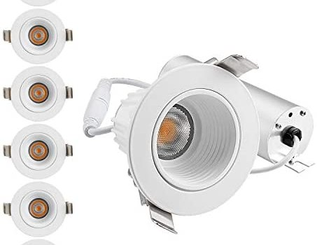 TORCHSTAR 9W 2 Inch Slim Recessed Ceiling Light with Junction Box, LED Dimmable Downlight CRI 90+, 3000K Warm White, 600lm, ETL, Energy Star, JA8 & T24 Listed, 5-Year Warranty, Pack of 6