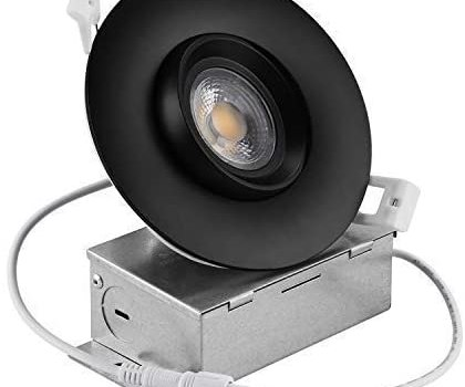 Recessed LED Downlight,NICKLED 12W 4 INCH LED Gimbal Downlights-Directional Adjustable, Dimmable LED Retrofit Recessed Lighting Fixture(100W Replacement), 1100Lumens (Warm White/3000K) Ra 90+