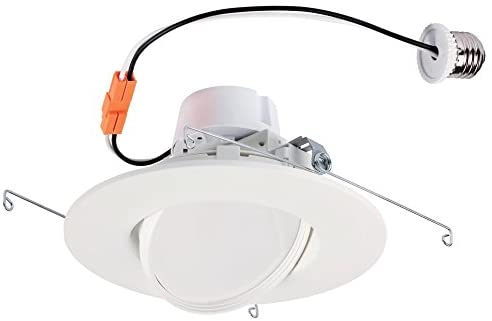 Westinghouse Lighting 5085000 80-Watt Equivalent 6-Inch Sloped Recessed LED Downlight Dimmable Warm Energy Star Light Bulb with Medium Base, White Trim