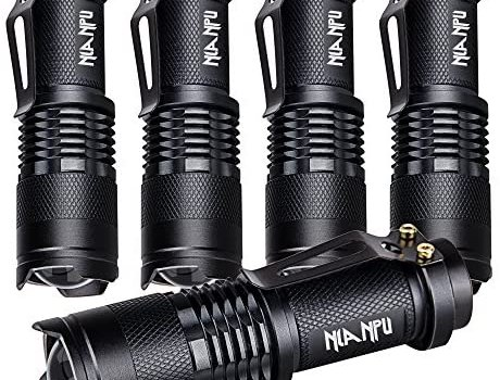 5 Pack SK-68 3 Modes Handheld Mini Cree Q5 LED Flashlight Torch Tactical Lamp 7w 300lm Adjustable Focus Zoomable Light