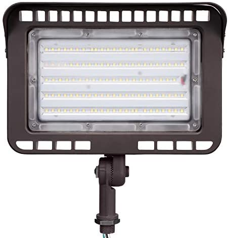 LEONLITE LED Outdoor Knuckle Mount Flood Light, 100W (1000W Eqv.) 5000K Daylight 11,000lm Super Bright Wall Washer Security Light, CRI90+, IP65 Waterproof for Yard, Parking Lot, Advertising Board