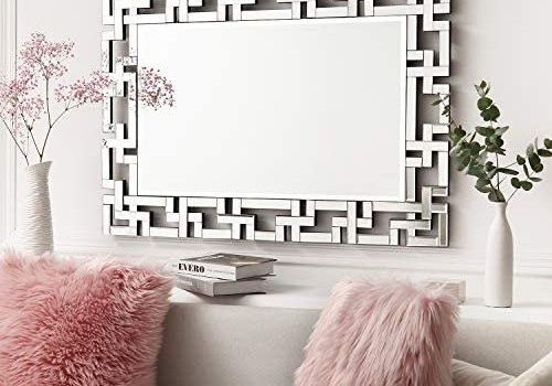 Art Decorative Wall Mirrors Large Grecian Venetian Mirror for Hotel Home Vanity Sliver Mirror (27.5″ W x39.5 H)
