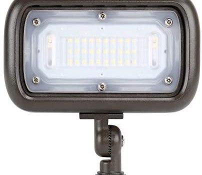 GKOLED 30W LED Floodlight, Outdoor Security Fixture, Waterproof, 100W PSMH Replace, 2700 Lumens, 3000K Warm White, 70CRI, 120-277V, 1/2″ Adjustable Knuckle Mount, UL-Listed, 5 Years Warranty