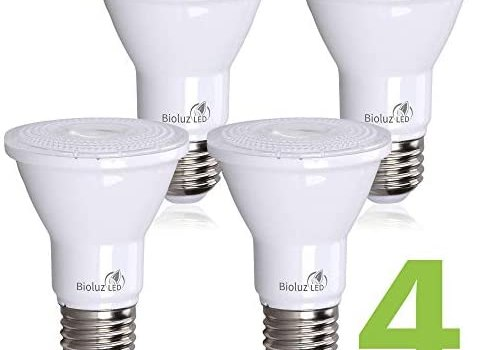 Bioluz LED PAR20 7w (75w Replacement) 5000k 500 Lumen Dimmable Lamp – UL Listed (5000K Cool White, 4-Pack)
