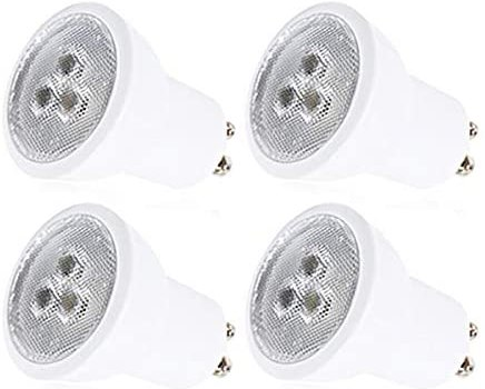 4 Pack GU10 LED Bulbs 3W 250lm Small Size MR11 LED Light Bulb AC85-265V 25W Halogen Bulb Equivalent Recessed Lighting Downlight Warm White 3000K Not Dimmable