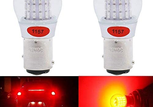 Alopee – 2-Pack 12-15V DC Extremely Bright Red 1157 2057 2357 7528 BAY15D 39SMD LED Bulbs Replacement for Halogen lamp Tail Brake Lights Stop Light