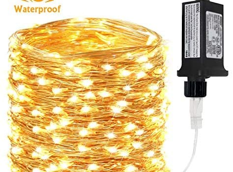 BHCLIGHT 66Ft 200 LED Fairy Lights Plug in, Waterproof String Lights Outdoor 8 Modes Copper Wire Lights Bedroom Decor, Twinkle Lights for Girl's Room Garden Christmas Party Wedding (Warm White)