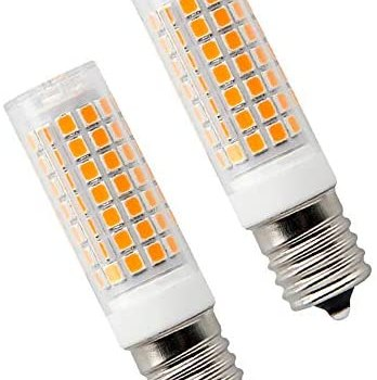 E17 LED Bulb 8 Watt Appliance Bulb Microwave Oven Light 3000K Warm White, 850lm, 75W Halogen Equivalent dimmable (2-Pack)