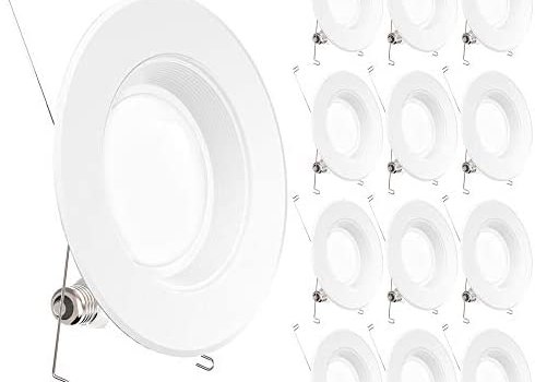 Sunco Lighting 12 Pack 5/6 Inch LED Recessed Downlight, Baffle Trim, Dimmable, 13W=75W, 2700K Soft White, 1050 LM, Damp Rated, Simple Retrofit Installation – UL + Energy Star