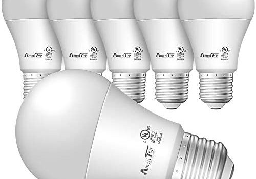 A19 LED Light Bulbs- 6 Pack, AmeriTop Efficient 9W(60W Equivalent) 830 Lumens General Lighting Bulbs, UL Listed, Non-Dimmable, E26 Standard Base (2700K Soft White)