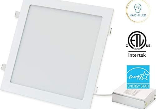 11 inch Square Recessed Ultra Slim Ceiling LED Down Light, Air Tight & IC Rated, ETL, Energy Star,TRIAC Dimming, 5000K