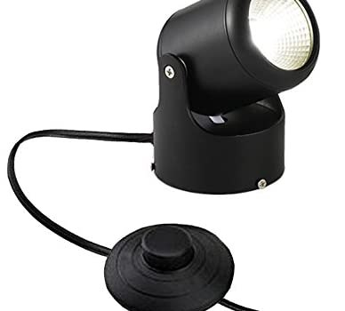 Kiven LED Accent Uplight with Foot Control On Off Switch, Handheld Sized Portable Spot Light, Black