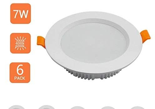 JJSFT LED Recessed Lighting Dimmable Downlight,7w Round Ceiling Recessed Downlight Spotlight Light for Living Room Bathroom Kitchen Cut Out 90-100mm 4.72in[Energy Class A++] (Color : Neutral Light)