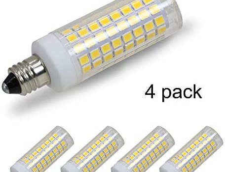 [4-Pack] E11 LED, E11 Led Bulbs, 100W Equivalent, 850 LM, Warm White 3000K, Dimmable,E11 Mini Candelabra Base, JD T3/T4 360 Degree Beam Angle for Indoor Decorative Lighting.
