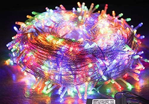 JMEXSUSS 33ft 100 LED Indoor Christmas String Lights, 30V 8 Modes Fairy String Lights for Homes, Christmas Tree, Wedding Party, Bedroom, Indoor Wall Decoration, UL588 Approved (100 LED, Multicolor)