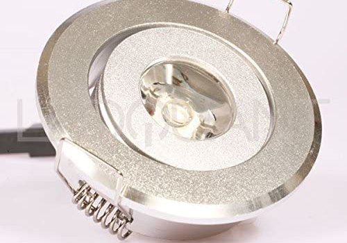 LEDQuant 1 Watt Recessed LED Lighting Fixture with Driver, Recessed Downlight, 10W Halogen Replacement, Cool White