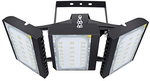 LED Flood Light, STASUN 450W 40500lm Security Lights with 330°Wide Lighting Area, OSRAM LED Chips, 6000K Daylight, Adjustable Heads, IP66 Waterproof Outdoor Lighting for Yard, Street, Parking Lot