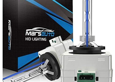 Marsauto D3S HID Bulb 6000K Xenon HID Replacement Bulb Diamond White with a Pair of Gloves for 12V Cars High Low Beam 2Pack