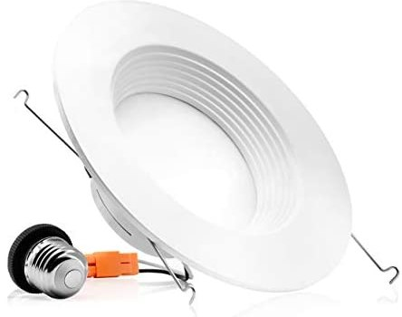 PARMIDA (1-Pack) 5/6 inch Dimmable LED Recessed Lighting, Retrofit Downlight, Baffle Trim, 12W (100W Replacement), Ceiling Can Lights, 1000lm, ENERGY STAR & ETL-Listed, 5 Year Warranty, 3000k