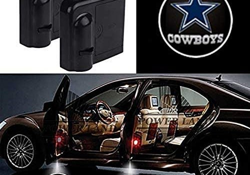 For Dallas Cowboys Car Door Led Welcome Laser Projector Car Door Courtesy Light Suitable Fit for all brands of cars