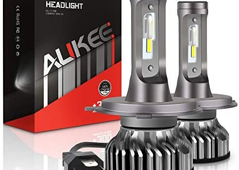 Aukee H4 LED Headlight Bulbs, 50W 6000K 10000 Lumens Extremely Bright (9003 Hi/Lo) CSP Chips Conversion Kit