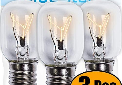 Ultra Durable 8206232A Microwave Light Bulb 40W E17 125V Replacement Part by Blue Stars – Exact Fit for Whirlpool Maytag Microwaves – Replaces 1890433 8206232 AP4512653 – Pack of 3