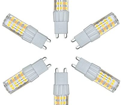 G9 LED Bulbs 5W(40W Equivalent) 400LM, Daylight White 5000K, 360 Degree Omni Beam Angle, Non-dimmable G9 Base, Plug and Play,for Home Lingting(Pack of 6)