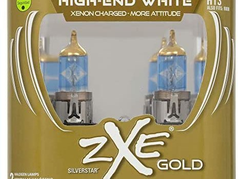 SYLVANIA – H13 (9008) SilverStar zXe GOLD High Performance Halogen Headlight Bulb – Bright White Light Output, Best HID Alternative, Xenon Charged Technology (Contains 2 Bulbs)