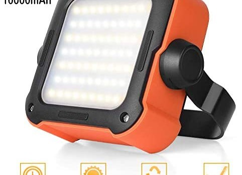 Portable LED Work Light Indoor Emergency Work Light Rechargeable Power Bank 10000mAh Waterproof LED COB Flood Lights For Emergency,Car Repairing,Job Site Lighting,Camping,Hiking, with 15 Light Modes