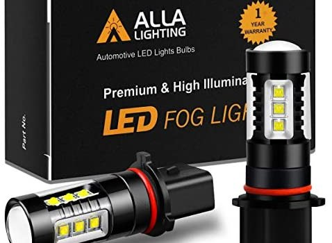 Alla Lighting 80W P13W LED Bulbs High Power Extremely Super Bright White P13W 12277 SH23W LED Bulbs for Daytime Running Fog Light DRL Lamps Replacement for Cars Trucks