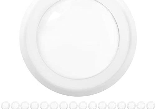 Sunco Lighting 48 Pack 5 Inch / 6 Inch Flush Mount Disk LED Downlight, 15W=100W, 3000K Warm White, 1050LM, Dimmable, Hardwire 4/6″ Junction Box, Recessed Retrofit Ceiling Fixture
