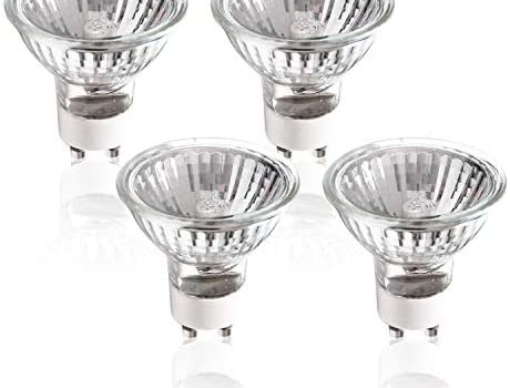 ETOPLIGHTING 4 Pack 50W GU10 Halogen Compact Size High Efficiency Flood Light Bulb 50 Watts 120V, Bright Output Soft White, Glass Cover & Dimmable, Warm White for Indoor and Outdoor, APL2185