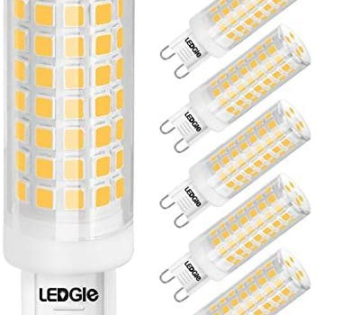 8W G9 Dimmable LED Light Bulbs, LEDGLE Warm White 3000K G9 Lamp, 80W Halogen Equivalent, No-Flicker, 88LEDS, 700lm, 3000K,Wide Beam Angle for Home Lighting, 6 Pack