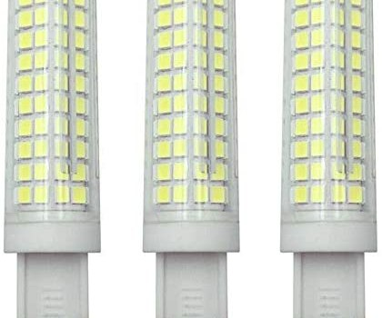 JKLcom G9 LED Bulbs Dimmable 10W(Equivalent to 100W Halogen Bulbs Replacement)110V Cool White 6000K LED Corn Light Bulbs JCD T4 G9 Bin-pin Base,Dimmable,136 LED 2835 SMD,3 Pack