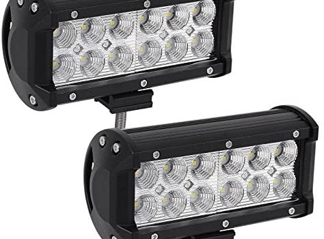 YITAMOTOR LED Light Bar, 36W 7Inch LED Work Light Flood LED Light Pods Off Road Driving Light Fog Lights Waterproof Truck Tractor Car Boat Motorcycle 4WD ATV SUV, 2 Years Warranty
