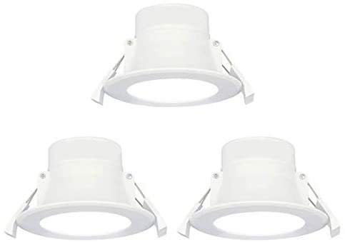 Beautiful Elegant 8W LED Small Downlights, Luxury Ceiling Lights Cool White Lighting 5000K, Φ70-85MM 240V IP44 Damp Proof for Kitchen Bathroom 3 Pack [Energy Class A+]