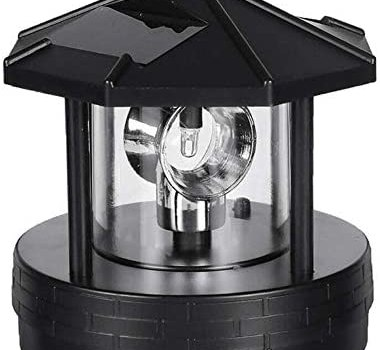 BAOYOU 1/3Pcs Rotatable Outdoor Solar Light, 360 Degree Miniature Rotating Garden Smoke Towers Led Light, Waterproof and Durable Light for Home/Garden/Courtyards/Lawns/Balconies Decor
