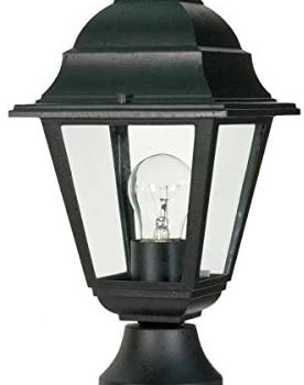 Nuvo 60/548 Outdoor Post Lantern, 14 x 6 Inches, 60 Watts/120 Volts, Unknown, Black