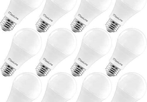MaxLite A19 LED Bulb, Enclosed Fixture Rated, 100W Equivalent, 1600 Lumens, Dimmable, E26 Medium Base, 2700K Soft White, 12-Pack