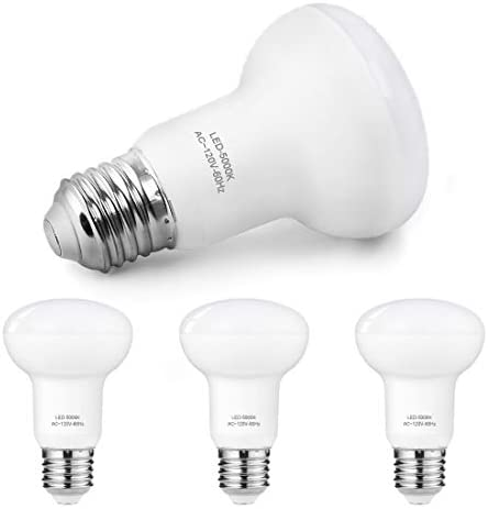 Dimmable R20 Led Light Bulbs, 7W(65W Incandescent Bulbs Equivalent), 5000K Daylight White, 700 Lumen, E26 Base Recessed Light Bulbs, BR20 LED Flood Light for Home or Office Space, 4 Pack