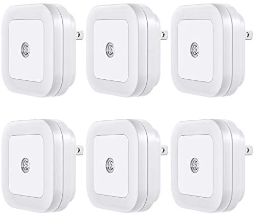 Vont 'Lyra' LED Night Light (Plug-in), Super Smart Dusk to Dawn Sensor, Night Lights Suitable for Bedroom, Bathroom, Toilet,Stairs,Kitchen,Hallway,Kids,Adults,Compact Nightlight, Cool White (6 Pack)