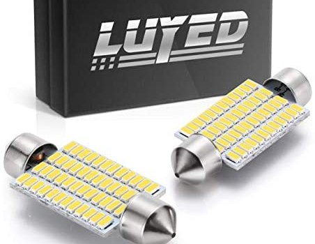 LUYED 2 X 570 Lumens Super Bright 3014 48-EX Chipsets 569 578 211-2 212-2 LED Bulbs Used for Dome Light,Warm White