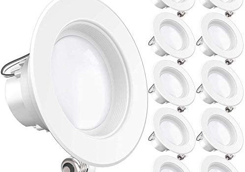 Sunco Lighting 10 Pack 4 Inch LED Recessed Downlight, Baffle Trim, Dimmable, 11W=40W, 2700K Soft White, 660 LM, Damp Rated, Simple Retrofit Installation – UL + Energy Star (Renewed)
