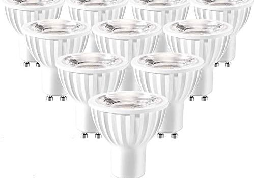 LED GU10 Light Bulbs 3000K Warm White Dimmable 50W 60W Halogen Bulb Replacement 7W 600lm 40-Degree MR16 GU10 Spot for Track Recessed Lighting 10-Pack